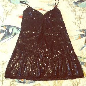 NWOT Victoria Secret black sequin nighty!Beautiful
